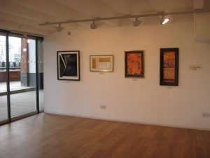 my work next to David Harris's